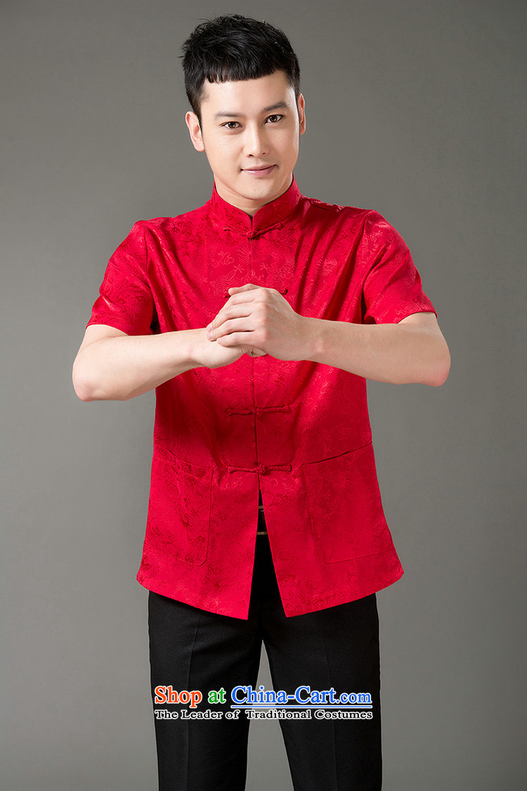 Boris poem federation short-sleeved Tang dynasty in Tang Dynasty elderly men聽by 2015 summer, emulation silk Tang blouses manually disc detained national costumes Chinese collar Tang Red聽XL/175 picture, prices, brand platters! The elections are supplied in the national character of distribution, so action, buy now enjoy more preferential! As soon as possible.