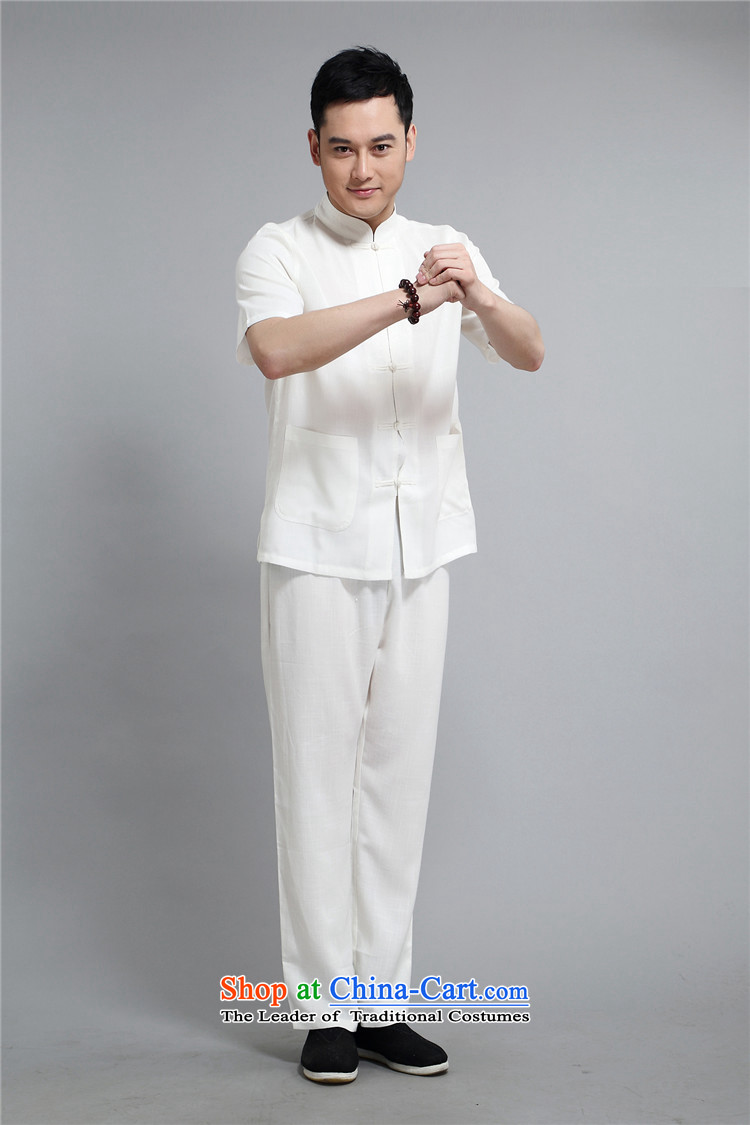Rollet HIV Tang dynasty in the number of older men and short-sleeve kit Mr Ronald Tang dynasty short-sleeved kit of older persons for summer China wind White聽XL Photo, prices, brand platters! The elections are supplied in the national character of distribution, so action, buy now enjoy more preferential! As soon as possible.