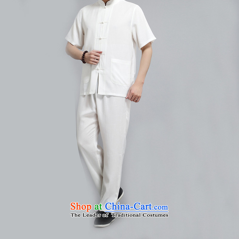 Rollet HIV Tang dynasty in the number of older men and short-sleeve kit Mr Ronald Tang dynasty short-sleeved kit of older persons for summer China wind White聽XL, HIV (AICAROLINA ROLLET) , , , shopping on the Internet