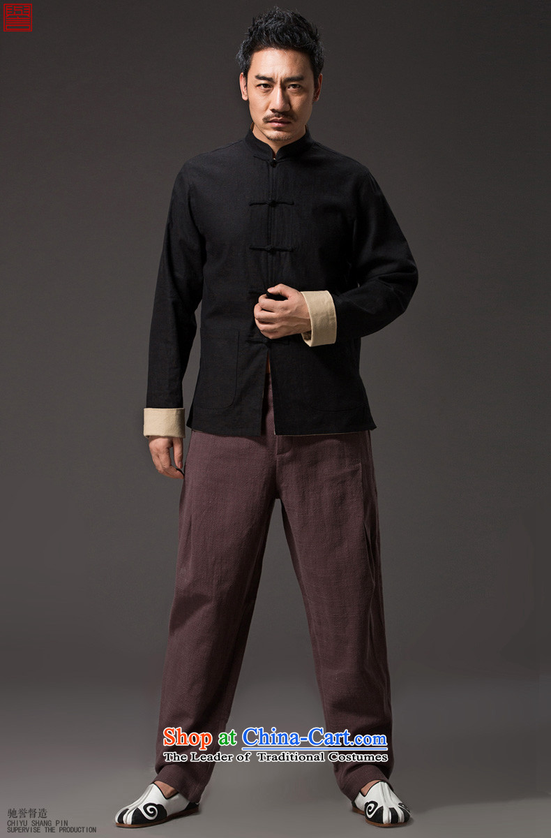 Renowned China wind retro men Chinese loose long-sleeved Chinese collar disc detained Chinese can double-sided wear Yi Tang dynasty MEN'S NATIONAL Package Mail Wong聽L picture, prices, brand platters! The elections are supplied in the national character of distribution, so action, buy now enjoy more preferential! As soon as possible.