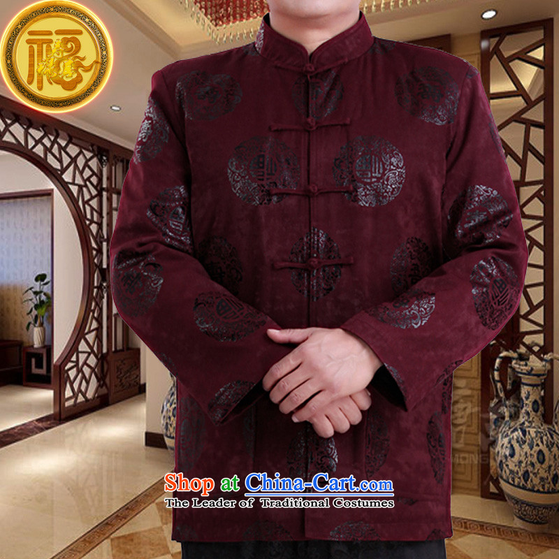 Mr Tang Dynasty poem federation male long-sleeved聽2015 New China wind spring and autumn in consultations over the life of older birthday wearing Chinese father jackets red聽190, Federation Bao Shi (lianbangbos) , , , shopping on the Internet
