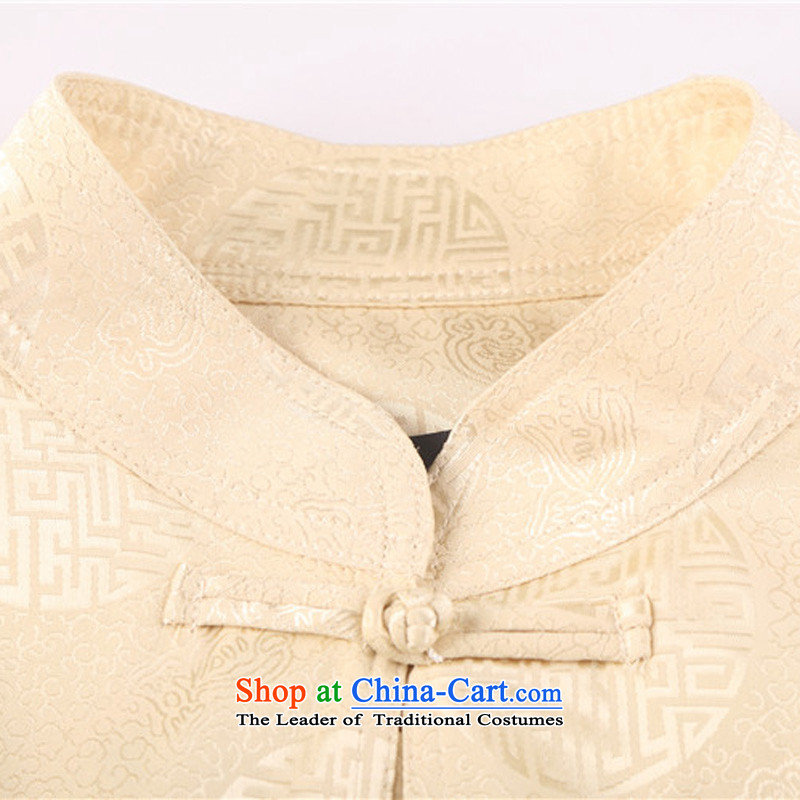 Kanaguri Mouse Tang dynasty and the spring and summer new long-sleeved jacket in Chinese father dress older men Tang Dynasty Package chestnut horses聽XL, mouse (JINLISHU KANAGURI) , , , shopping on the Internet