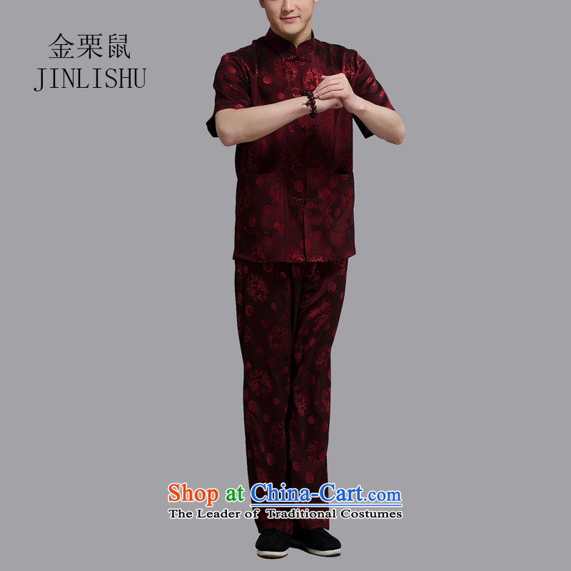 Kanaguri mouse in older Tang Dynasty Package short-sleeved of older persons in the boys father replace service for summer English thoroughbred燲XXXL Pants Shirts