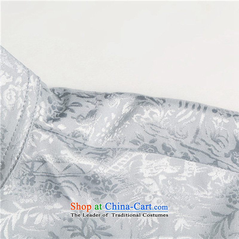 Rollet HIV from older men Mr Tang Dynasty Package for short-sleeved older men summer Chinese half sleeve male Tang dynasty light gray聽, L, HIV (AICAROLINA ROLLET) , , , shopping on the Internet
