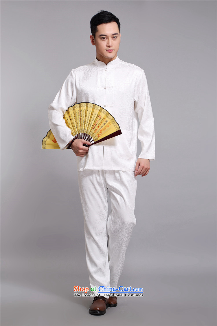 Hiv Rollet men Tang Dynasty Package in the summer of Tang Dynasty older men and the spring and summer of long-sleeved shirt with white聽XXL pants kit picture, prices, brand platters! The elections are supplied in the national character of distribution, so action, buy now enjoy more preferential! As soon as possible.