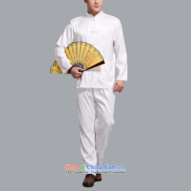 Hiv Rollet men Tang Dynasty Package in the summer of Tang Dynasty older men and the spring and summer of long-sleeved shirt with white聽XXL, pants kit (AICAROLINA HIV ROLLET) , , , shopping on the Internet