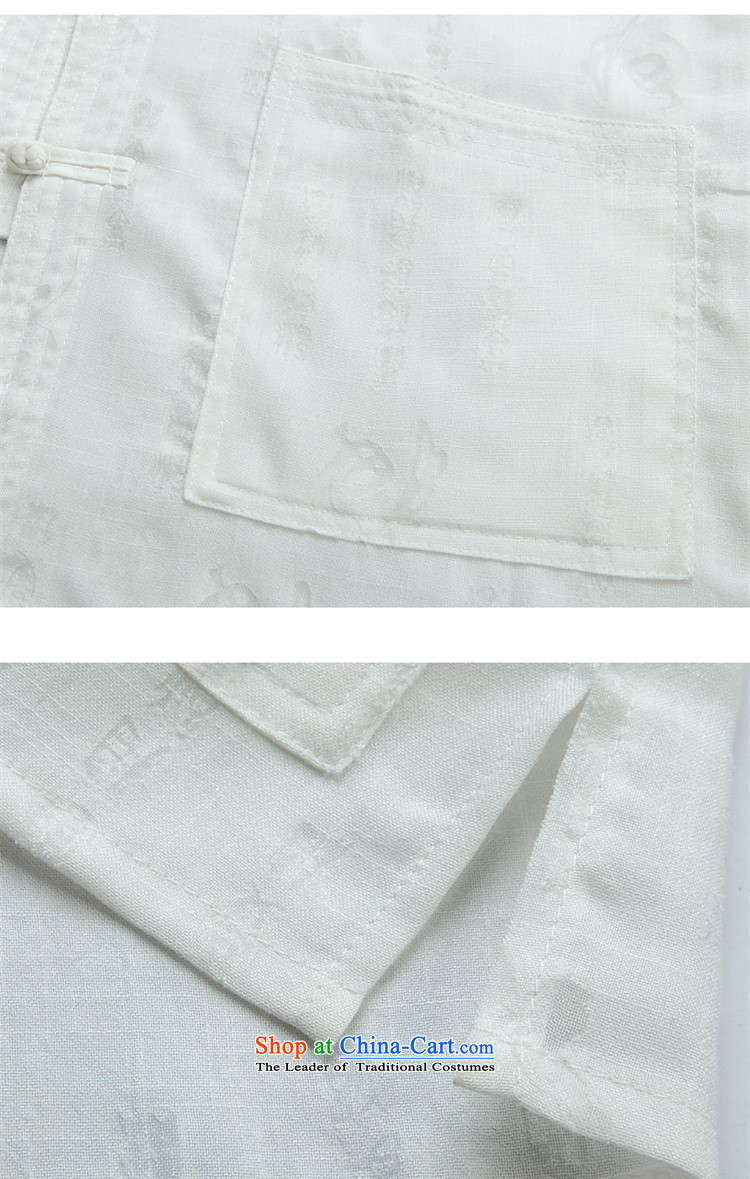Rollet HIV from older men Tang dynasty summer short-sleeved T-shirt large retro-Tang dynasty men detained cotton linen short-sleeved white shirts kit XXL picture, prices, brand platters! The elections are supplied in the national character of distribution, so action, buy now enjoy more preferential! As soon as possible.