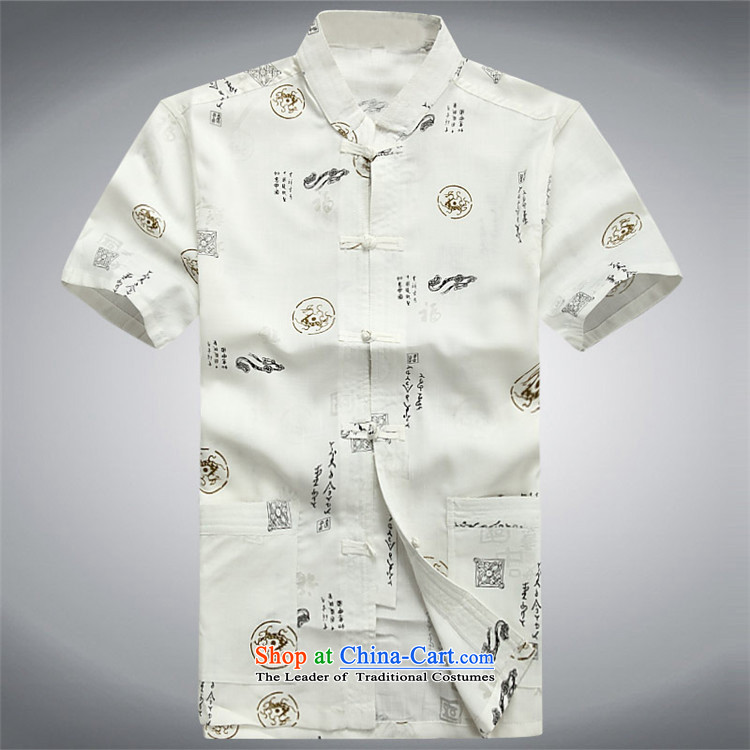 Rollet HIV Tang dynasty in the number of older men and short-sleeved summer Chinese cotton linen Tang blouses men linen Tang Dynasty Han-White聽XXL images of men, prices, brand platters! The elections are supplied in the national character of distribution, so action, buy now enjoy more preferential! As soon as possible.