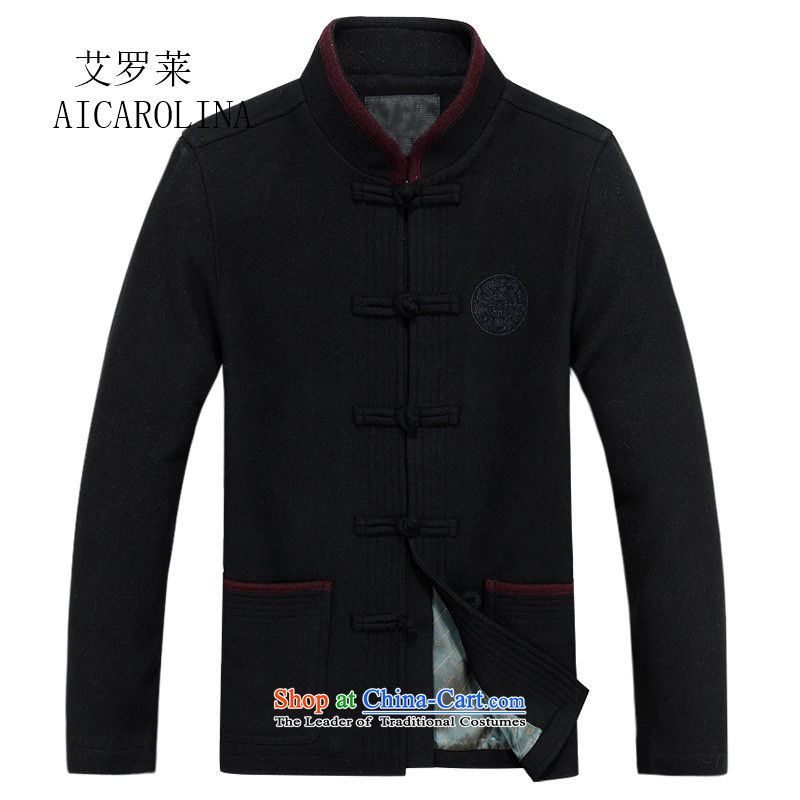Hiv Rollet new summer, Tang dynasty men in Nepal in older long-sleeved jacket coat a China wind coats navy�M