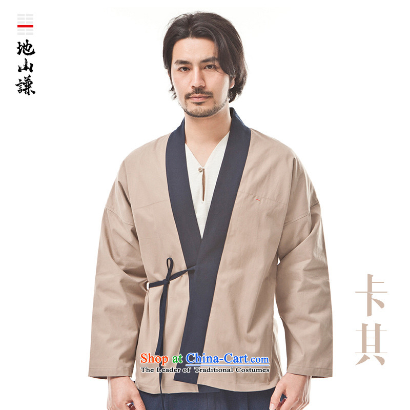 In Shan Abraham China wind new innovative Han-pure cotton tea serving Chinese and stylish meditation track suit national wind-in (M)