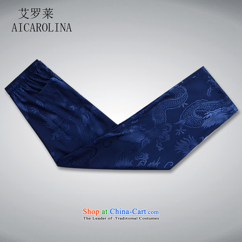 Rollet HIV from older men summer short-sleeved Tang Dynasty Package blue packaged聽XXXL, HIV ROLLET (AICAROLINA) , , , shopping on the Internet