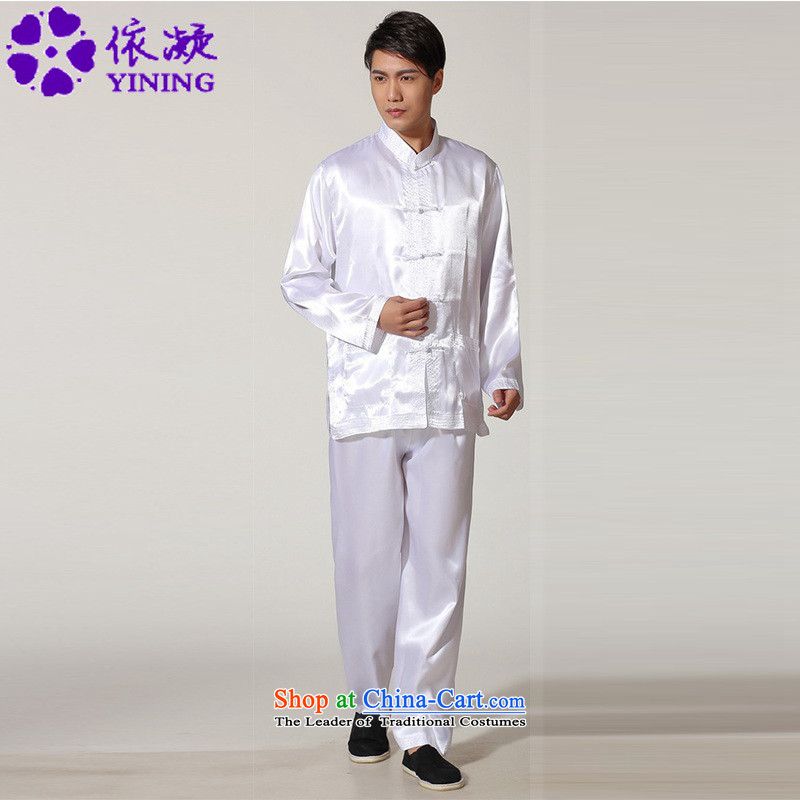 In accordance with the stylish new fuser men Chinese Tang dynasty package improved kung fu shirt sanshou clothing�Lgd/m3013#�White�2XL