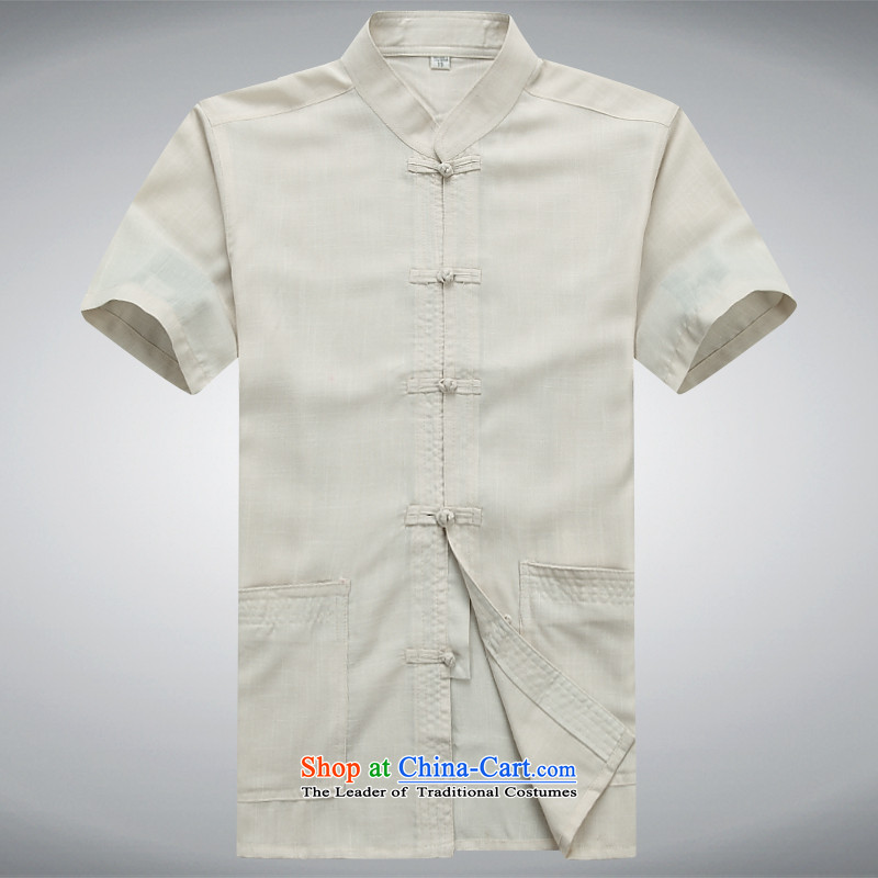 Top Luxury Tang dynasty male summer in older men short-sleeved Tang Dynasty Package manually disc detained Chinese white short-sleeved leisure wears his father Father replacing mock Blue Kit聽170 pictures, prices, brand platters! The elections are supplied in the national character of distribution, so action, buy now enjoy more preferential! As soon as possible.