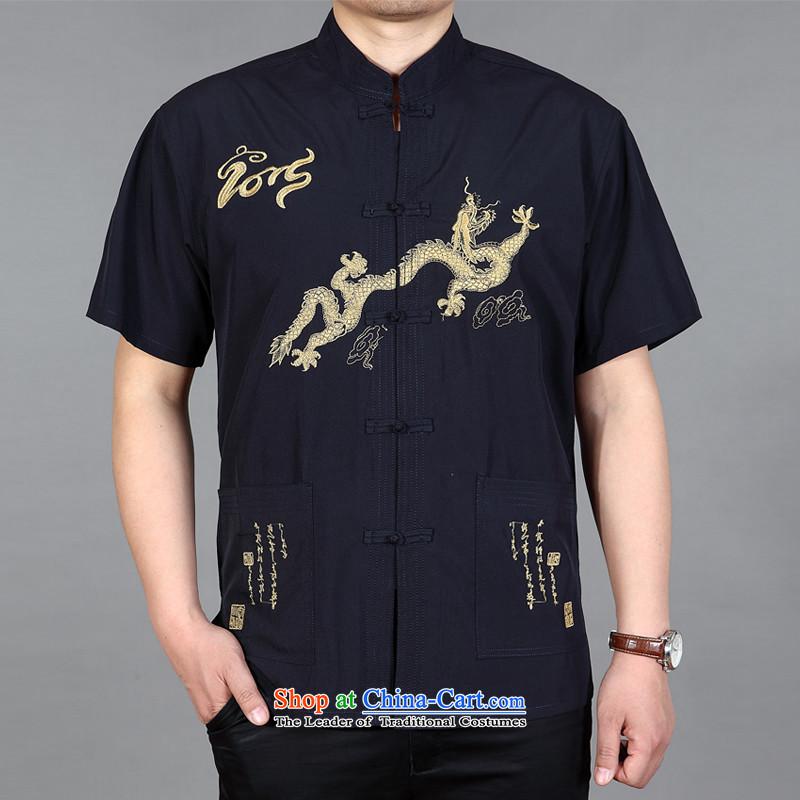 New Men's short-sleeved in Tang Dynasty older summer shirts older persons summer China wind men Tang dynasty shirt, beige sheep Cisco Francesc Vendrell (JIESILEILI) , , , shopping on the Internet
