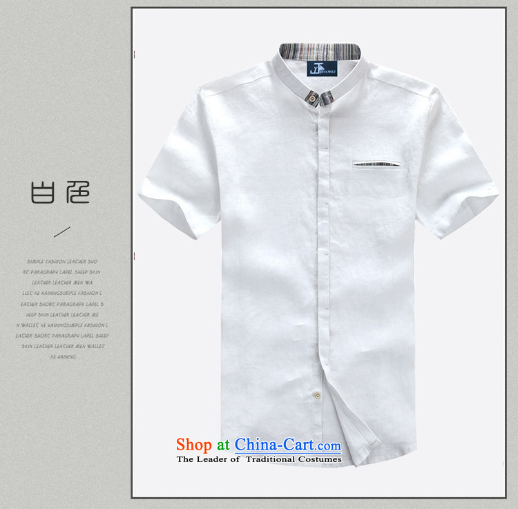- Wolf JIEYA-WOLF, New Tang Dynasty Short-Sleeve Men's smaller flip style leisure cotton linen solid color summer Tang Dynasty Men's Shirt trend fitted rose聽170/M picture, prices, brand platters! The elections are supplied in the national character of distribution, so action, buy now enjoy more preferential! As soon as possible.