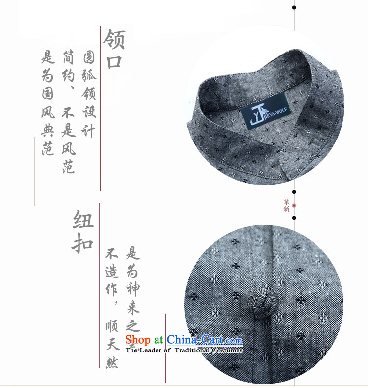 - Wolf JIEYA-WOLF, New Tang Dynasty Short-Sleeve Men's Shirt pure cotton shirt summer stylish casual China wind men stars of gray聽185/XXL picture, prices, brand platters! The elections are supplied in the national character of distribution, so action, buy now enjoy more preferential! As soon as possible.