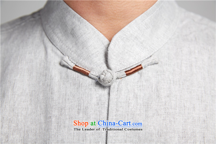Fudo Sui-taek de2015 linen embroidery Tang dynasty male summer short-sleeved shirt China wind men Chinese clothing dark grayXXL picture, prices, brand platters! The elections are supplied in the national character of distribution, so action, buy now enjoy more preferential! As soon as possible.