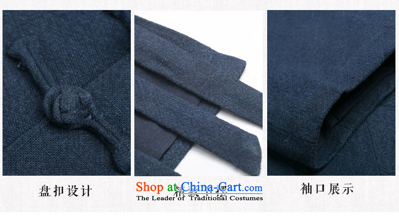 Renowned China wind autumn and winter men cotton linen Tang dynasty long-sleeved improved Han-spiritual services need to come to grips loose ball-T-shirt Chinese Disc detained Blue jumbo XXL picture, prices, brand platters! The elections are supplied in the national character of distribution, so action, buy now enjoy more preferential! As soon as possible.