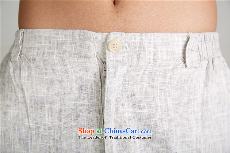 De Fudo winds聽2015 new linen summer Chinese casual pants elastic waist relaxd Tang Dynasty Chinese garment-Light Gray聽XL Photo, prices, brand platters! The elections are supplied in the national character of distribution, so action, buy now enjoy more preferential! As soon as possible.