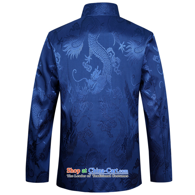 Tang dynasty male jacket coat long-sleeved thick cotton in the Tang elderly men loaded with 2015 Winter Father New Large Dragon red plus cotton 190,JACK EVIS,,, shopping on the Internet