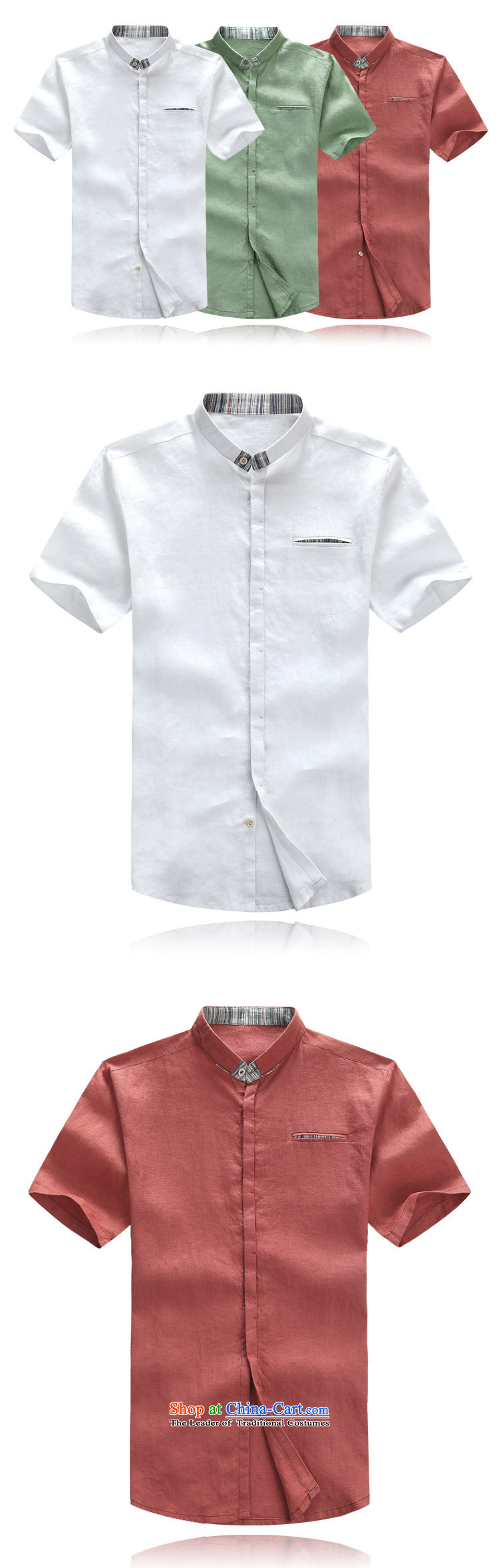 2015 New Tang dynasty short-sleeved men cotton linen clothes China wind Chinese male cotton linen mock shirt ethnic men coin cotton linen Tang dynasty short-sleeved rusty red聽XL/180 picture, prices, brand platters! The elections are supplied in the national character of distribution, so action, buy now enjoy more preferential! As soon as possible.