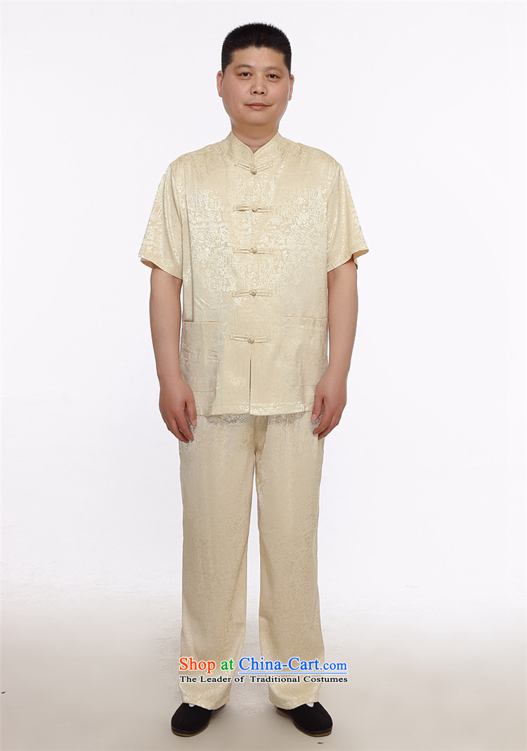 Rollet HIV from older men short-sleeved larger men summer retro China wind her father, middle-aged men pure color blue Tang dynasty XL Photo, prices, brand platters! The elections are supplied in the national character of distribution, so action, buy now enjoy more preferential! As soon as possible.