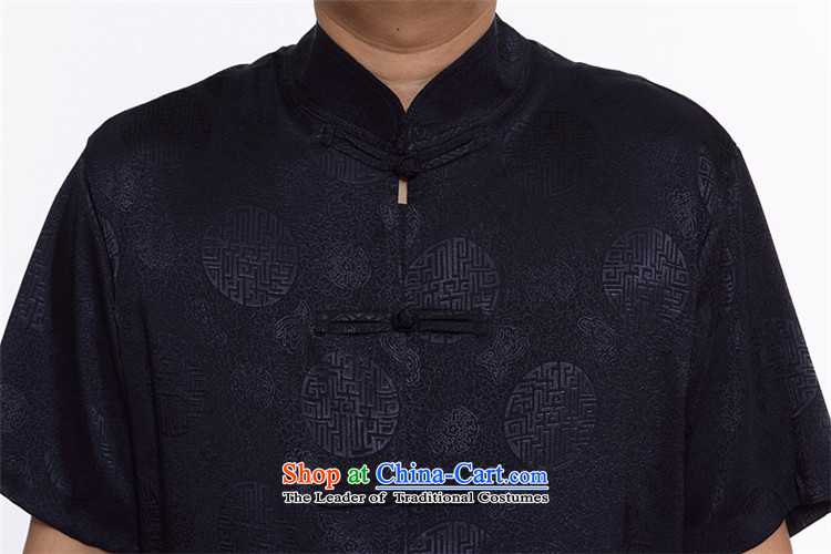 Kanaguri mouse summer new middle-aged home leisure China wind Kit Chinese Men's Mock-Neck short-sleeved Tang dynasty gold聽L pictures, prices, brand platters! The elections are supplied in the national character of distribution, so action, buy now enjoy more preferential! As soon as possible.