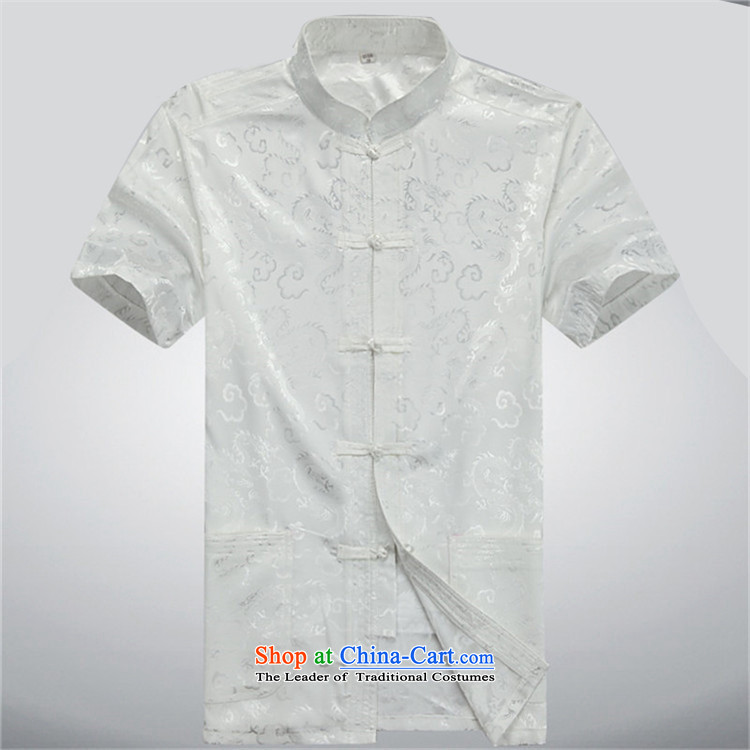 Hiv middle-aged men Rollet Tang Dynasty Short-Sleeve Mock-Neck package for older men summer blouses leisure Tang Dynasty Package聽XXXL Gray Blue Photo, prices, brand platters! The elections are supplied in the national character of distribution, so action, buy now enjoy more preferential! As soon as possible.