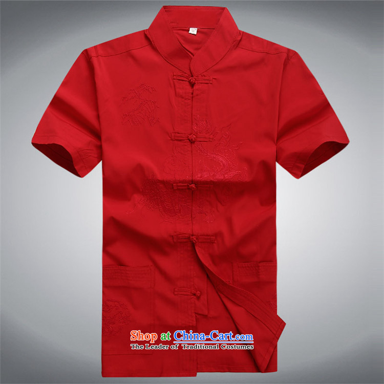 Hiv Rollet 2015 new middle-aged men Tang dynasty summer short-sleeved Tang Dynasty Package and older persons with men's father Tang red kit聽190/XXXL picture, prices, brand platters! The elections are supplied in the national character of distribution, so action, buy now enjoy more preferential! As soon as possible.