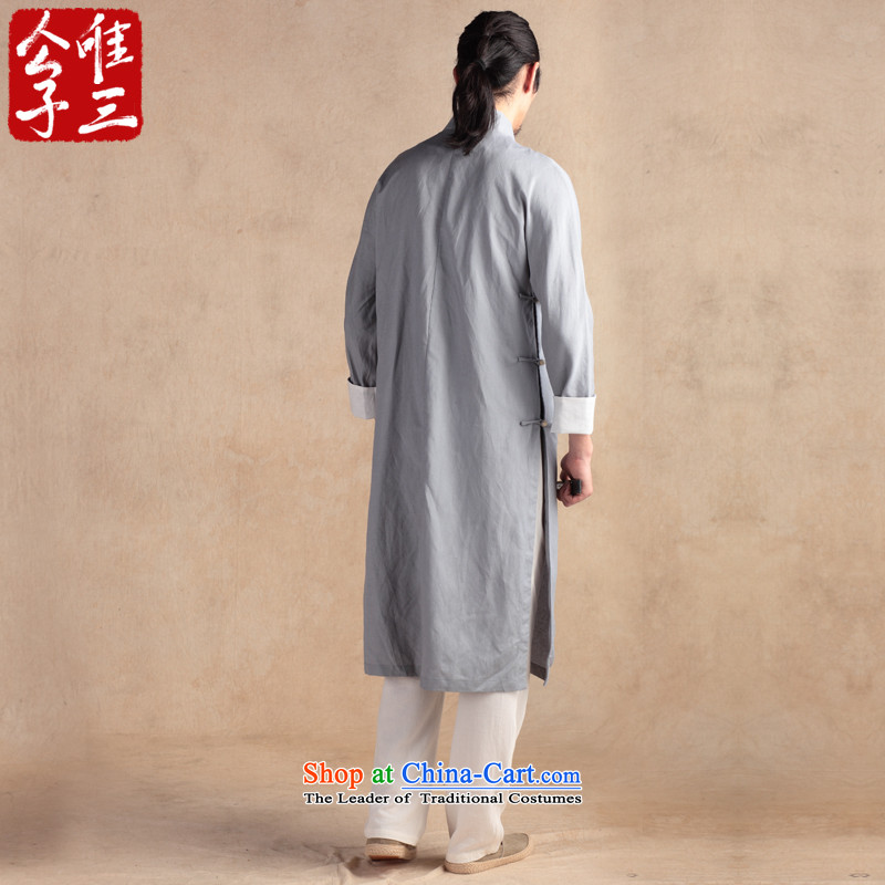 Cd 3 China wind wind Chhnang Sau San linen cotton linen Chinese national costumes and spring and autumn coats of ethnic Tang dynasty (S) CD 3 soot small shopping on the Internet has been pressed.