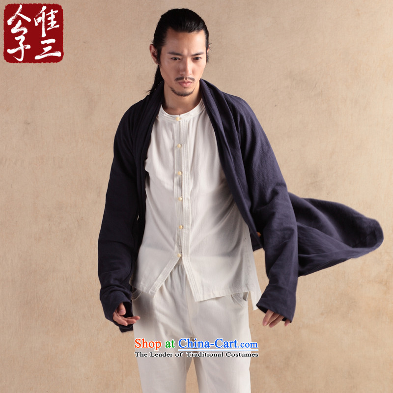 Cd 3 China wind Wuji Cheongsams Han-T-shirt Tang jackets of ethnic cotton linen flax men windbreaker akikura Tsing large (L)