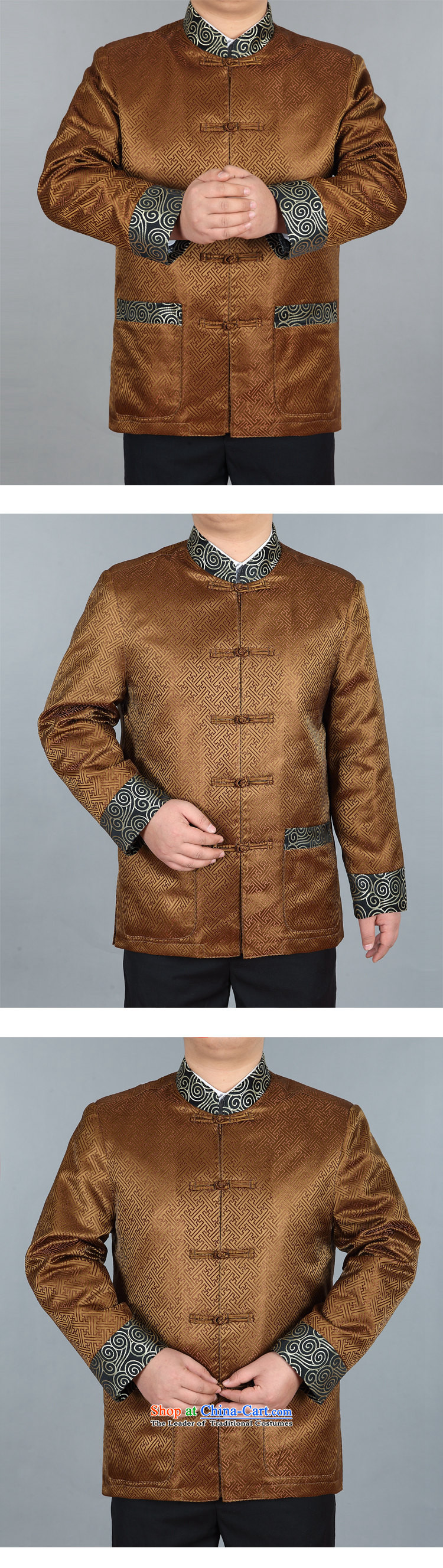Top Luxury Autumn New Men, Father Chinese wedding banquet dress loose version men Tang Jacket coat large Gold T-shirt Han-88021) Gold jacket,聽175 pictures, prices, brand platters! The elections are supplied in the national character of distribution, so action, buy now enjoy more preferential! As soon as possible.