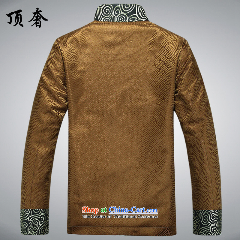 Top Luxury Autumn New Men, Father Chinese wedding banquet dress loose version men Tang Jacket coat large Gold T-shirt Han-88021) Gold jacket,聽175 top luxury shopping on the Internet has been pressed.