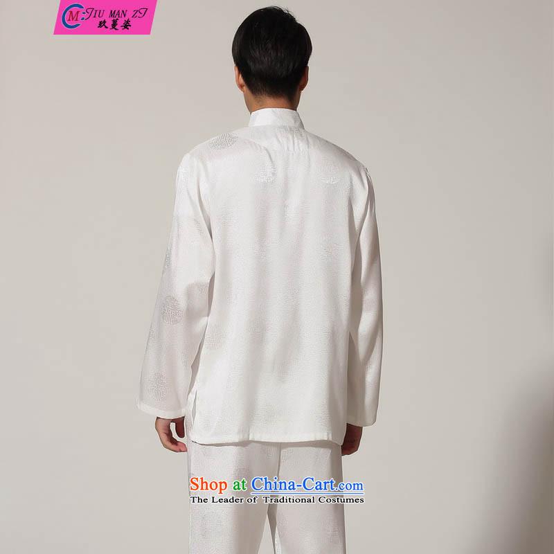 Ko Yo Overgrown Tomb Gigi Lai Man 2015 New Tang Dynasty Solid Color Kit Tang dynasty collar long-sleeved shirt kit damask kung fu Chinese Leisure Services M0049 M0049 Taiji Boys XL