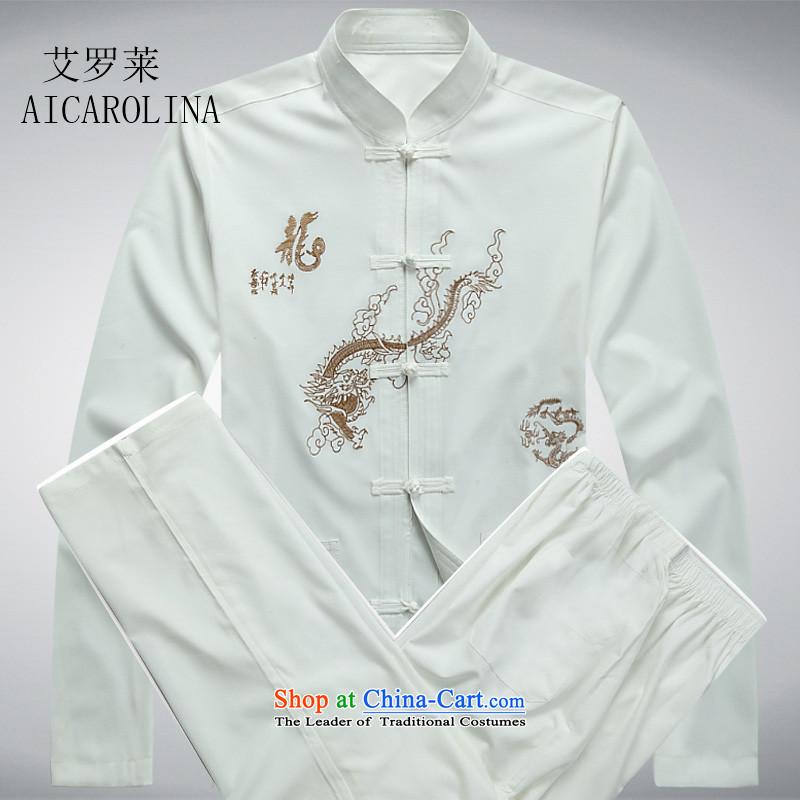 Hiv Rollet Chinese China wind men Tang Dynasty Package long-sleeved gown male Ball Spring and Autumn Services White Kit�M