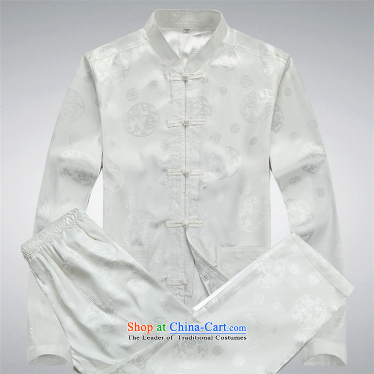 Hiv Rollet 2015 New China wind long-sleeved middle-aged men Tang dynasty round Dragon Chinese Suite white long-sleeved kit XXL picture, prices, brand platters! The elections are supplied in the national character of distribution, so action, buy now enjoy more preferential! As soon as possible.