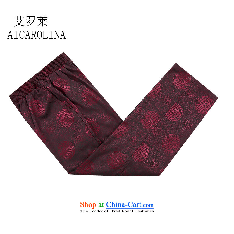 Hiv Rollet China wind Tang Dynasty Chinese men's trousers, pants men Tang elastic strap燲XXXL red trousers