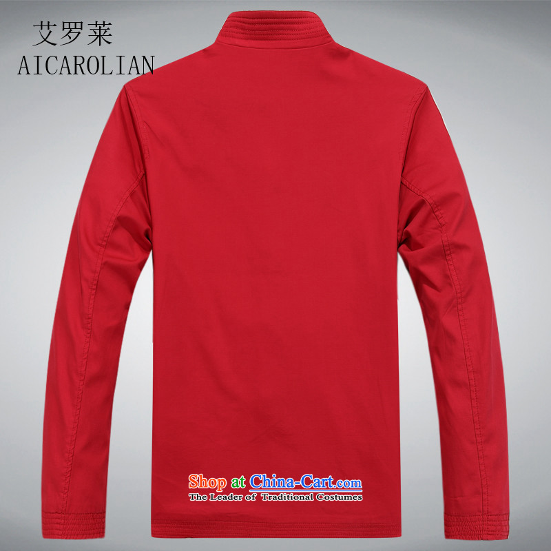 Airault letang replacing men and long-sleeved men in Tang Dynasty long-sleeved older Men's Shirt Spring and Autumn Tang dynasty red XXXL, HIV ROLLET (AICAROLINA) , , , shopping on the Internet