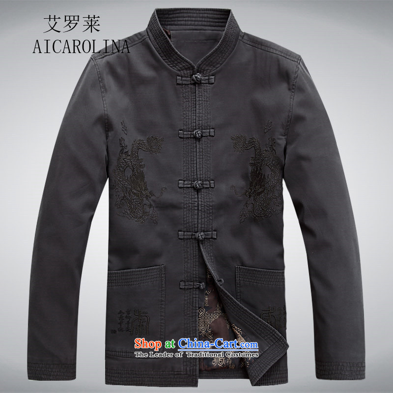Hiv Rollet new middle-aged men in older Men's Mock-Neck Tang dynasty father replacing carbon燲XXL