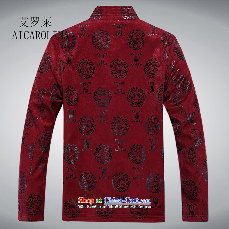 Hiv Rollet spring long-sleeved Tang dynasty long-sleeved shirt, older men detained long-sleeved Tang dynasty disc loading father BOURDEAUX L, HIV (AICAROLINA ROLLET) , , , shopping on the Internet