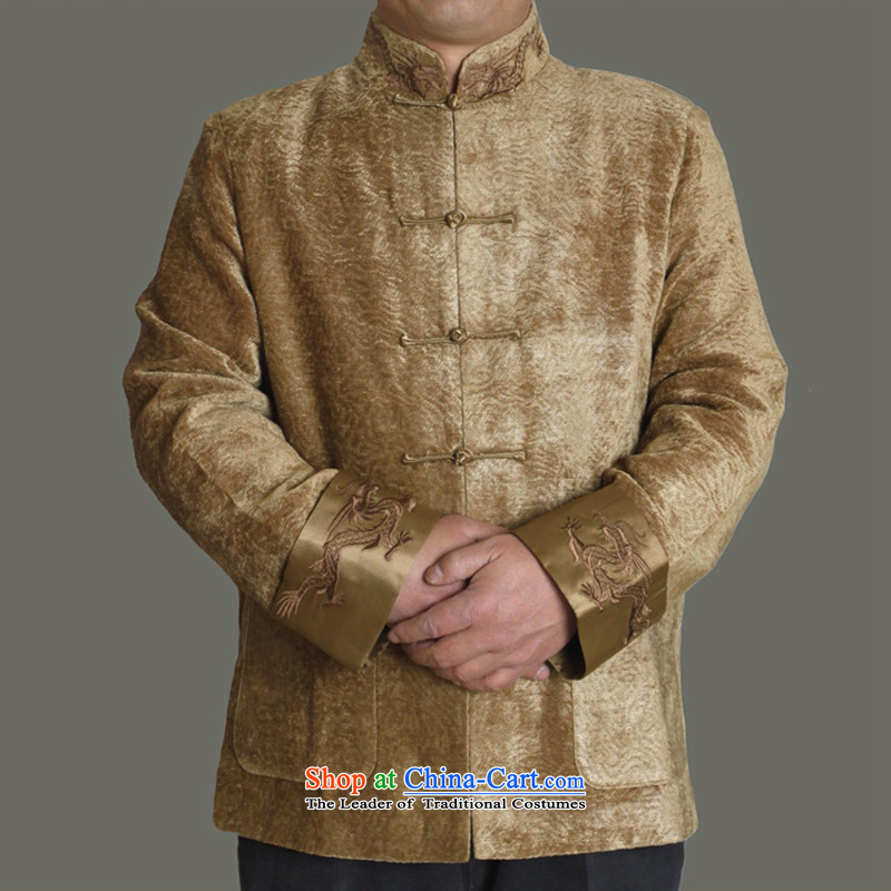 Jumbo Packets to the Cave of the elderly ex-gratia email 15 new upscale autumn and winter men cotton Tang dynasty fashion trend of men in the autumn of Tang Dynasty Y0987 gold�5 older gift