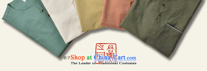 Hill People Movement China wind linen men Tang dynasty short-sleeved shirt loose Chinese Men's Shirt leisure retro summer silver color聽pictures, 170 Zhu price, brand platters! The elections are supplied in the national character of distribution, so action, buy now enjoy more preferential! As soon as possible.