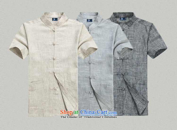 - Wolf JIEYA-WOLF, Tang Dynasty Package men's summer short-sleeved cotton linen Solid Color Kit Man Tang dynasty short-sleeved shirt kit cotton linen light gray T-shirts are聽170/M a picture, prices, brand platters! The elections are supplied in the national character of distribution, so action, buy now enjoy more preferential! As soon as possible.