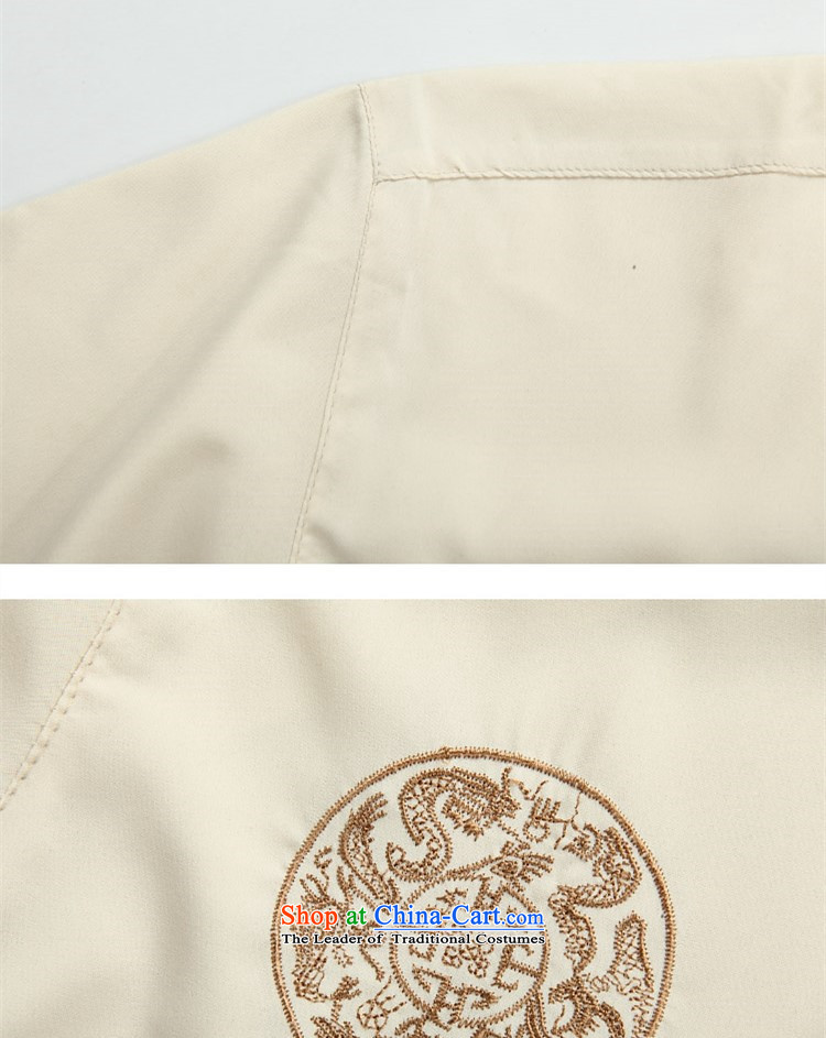 Beijing New OSCE kit in Tang dynasty China wind older short-sleeved light summer, men summer beige kit聽M picture, prices, brand platters! The elections are supplied in the national character of distribution, so action, buy now enjoy more preferential! As soon as possible.