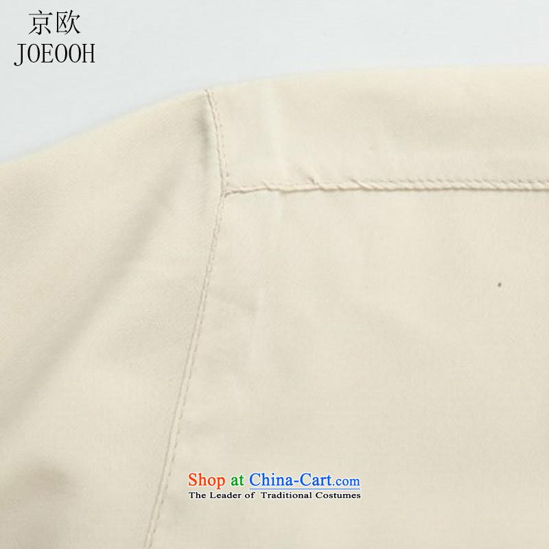 Beijing New OSCE kit in Tang dynasty China wind older short-sleeved light summer, men summer beige Kit聽, M, Putin (JOE OOH) , , , shopping on the Internet