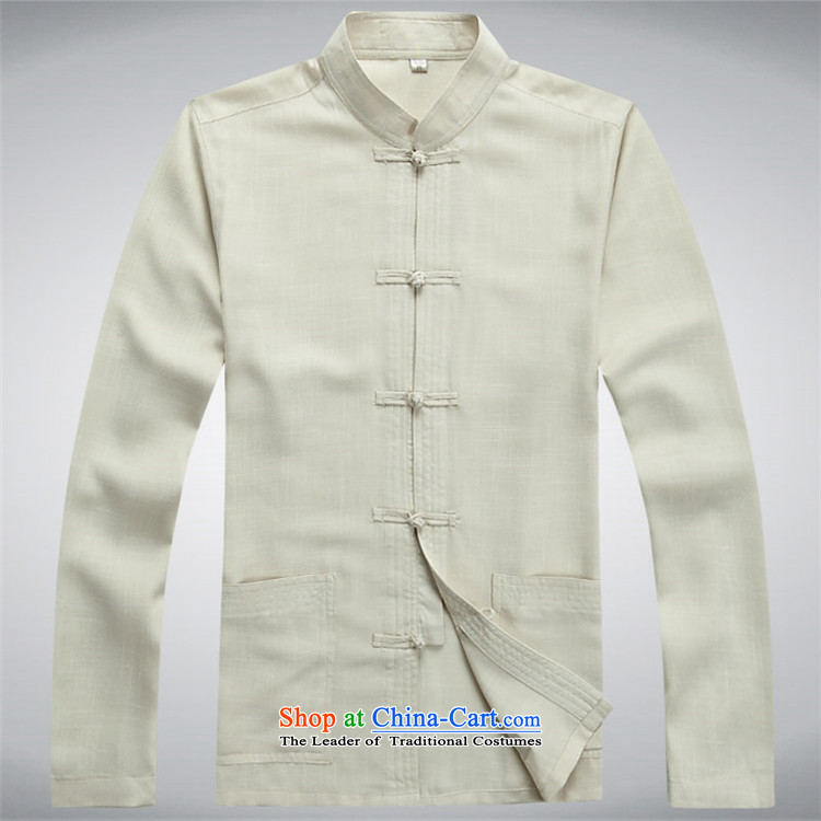 Kanaguri Mouse middle-aged men Tang dynasty linen package in long-sleeved older Tang dynasty ball-Service Pack beige kit father聽S picture, prices, brand platters! The elections are supplied in the national character of distribution, so action, buy now enjoy more preferential! As soon as possible.