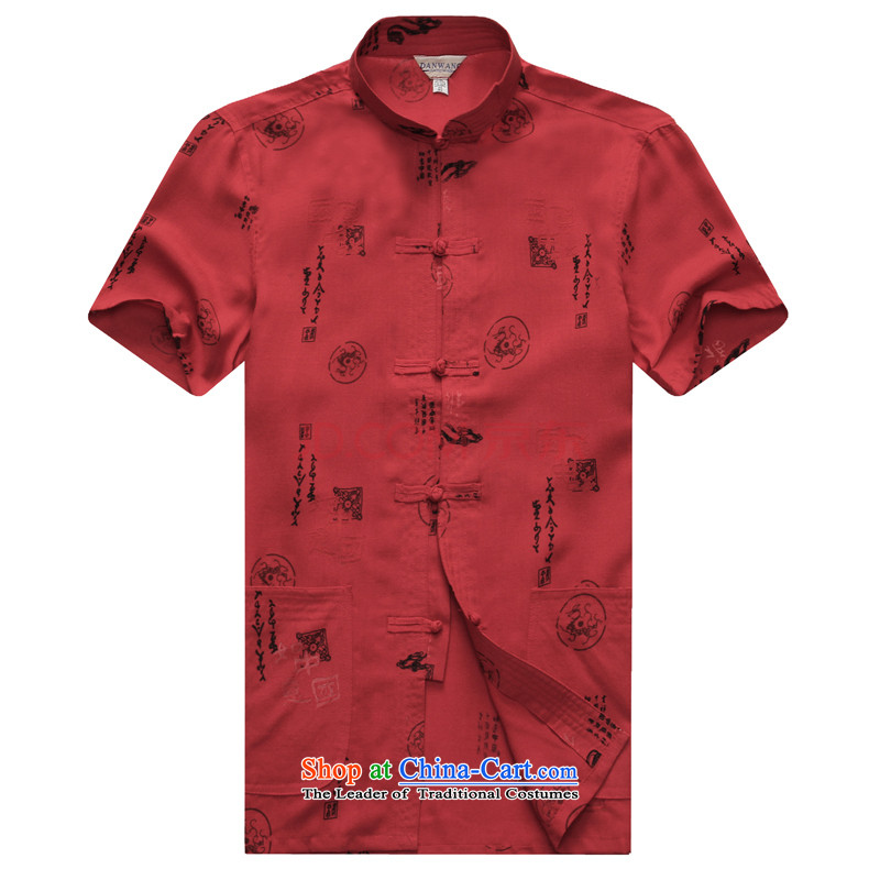 The Secretary for Health Doi 2015 New Pont Sondé, older men short-sleeved Tang dynasty father replacing cotton leisure China wind men short-sleeved Tang Red 170