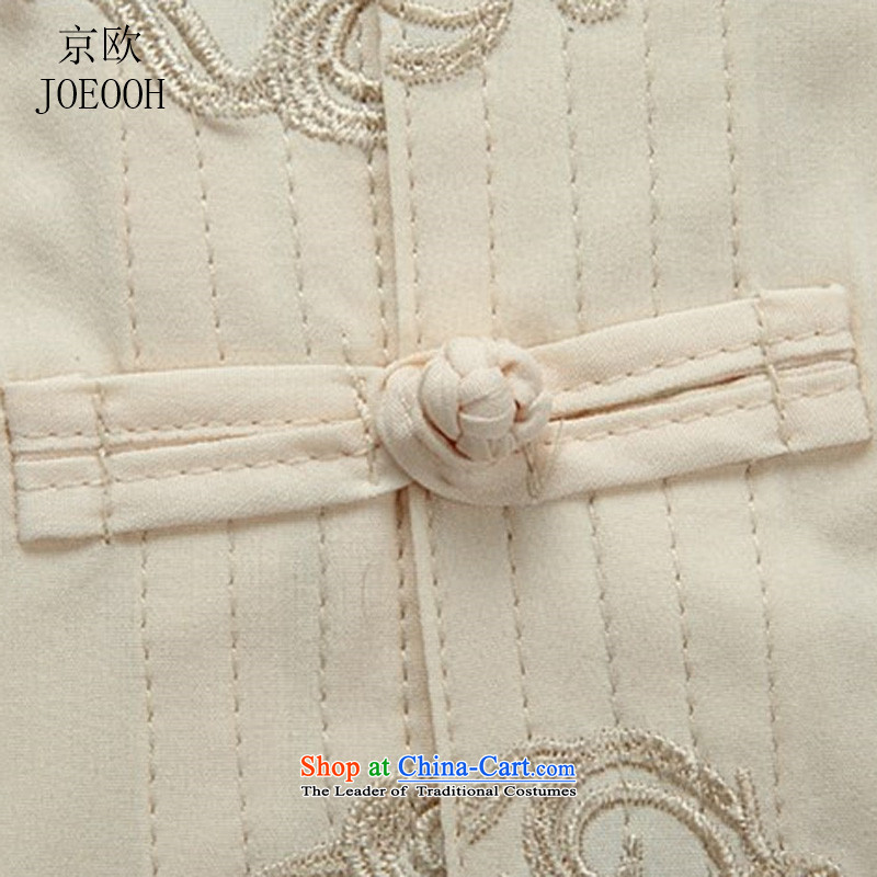 Beijing spring and summer, the OSCE in Tang Dynasty older men cotton Tang Kit large long-sleeved casual relaxd father replacing white T-shirt聽, M, Putin (JOE OOH) , , , shopping on the Internet