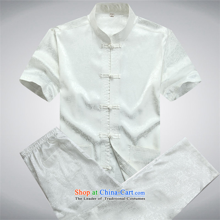 Hiv Rollet spring and summer men Tang dynasty short-sleeve kit of older people in China wind elderly men's grandfather summer White Kit聽XXXL picture, prices, brand platters! The elections are supplied in the national character of distribution, so action, buy now enjoy more preferential! As soon as possible.