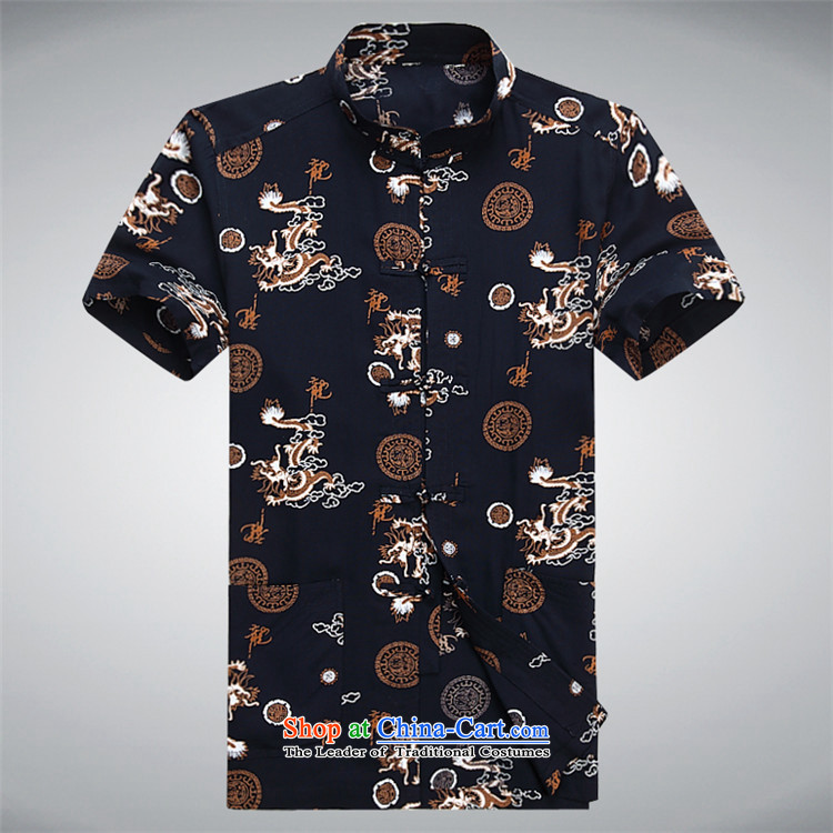 Hiv Rollet China wind summer T-shirts in Tang older large leisure shirt middle-aged men white short-sleeved Tang dynasty S picture, prices, brand platters! The elections are supplied in the national character of distribution, so action, buy now enjoy more preferential! As soon as possible.